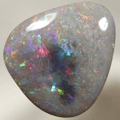 SOLID SEMI BLACK OPAL Large opal with colourful bright fire SEE VIDEO